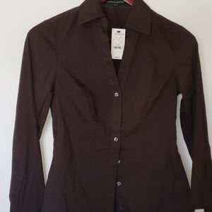 Express fitted button up shirt- NWT